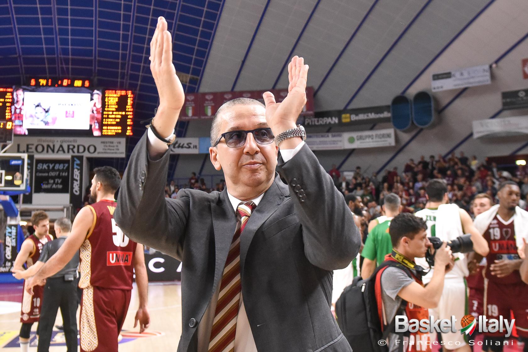 """Walter De Raffaele: """"Orgoglioso di far parte della Reyer, bravi i giocatori"""""""