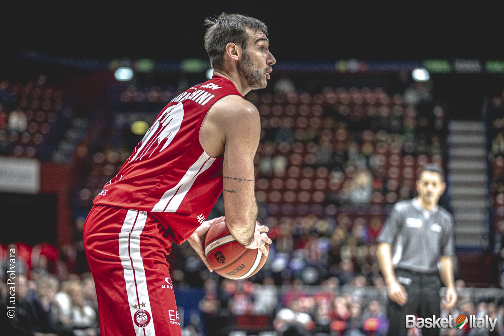 """Riccardo Moraschini: """"Testa bassa a lavorare ed ascoltare. Così sono utile all'Olimpia"""""""
