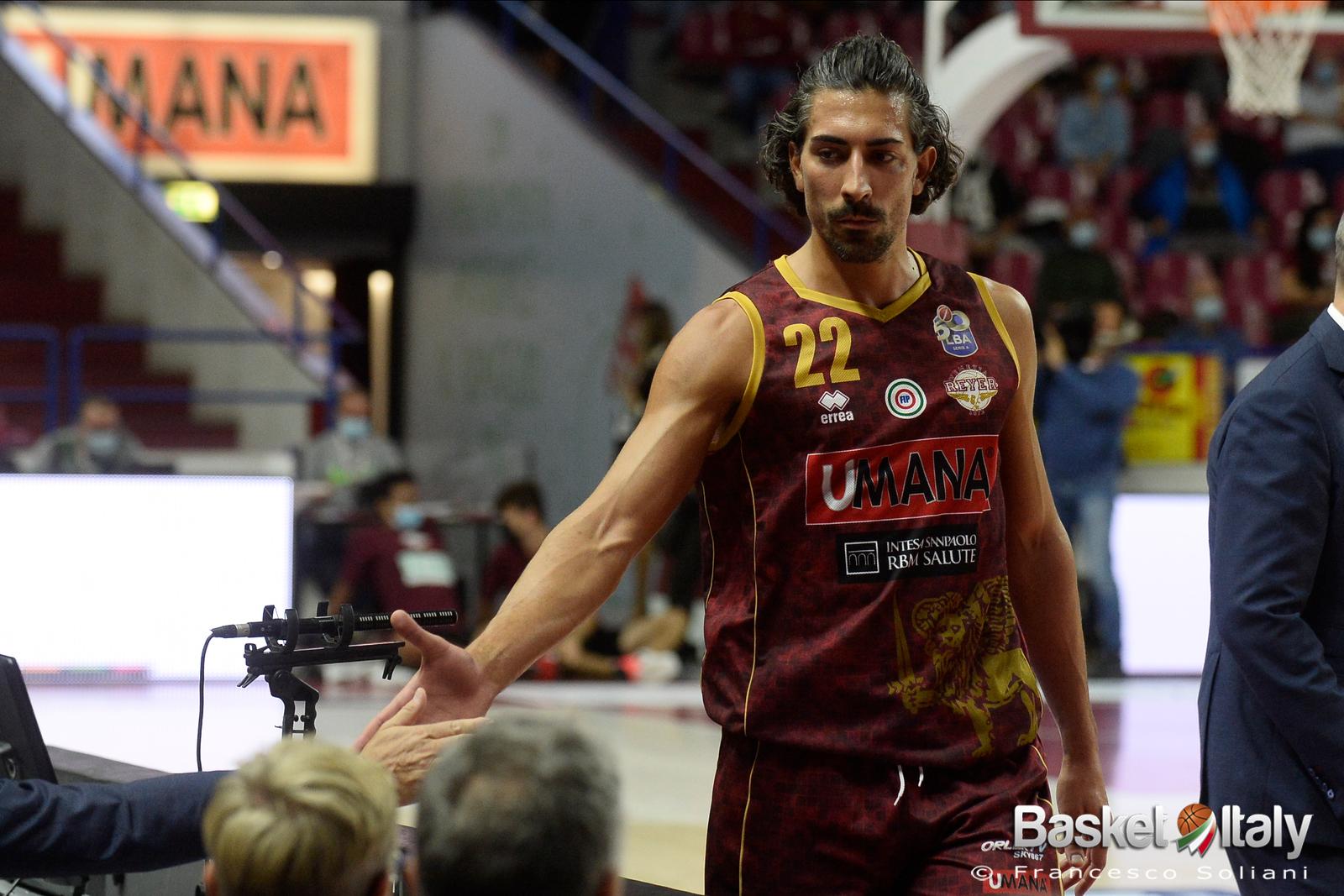 Reyer Venezia: per Valerio Mazzola ancora presente la lesione muscolare