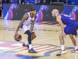 Malcom Delaney Nick Calathes, Barcellona, 2020-12-11