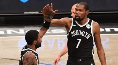 Kyrie Irving Kevin Durant Brooklyn Nets