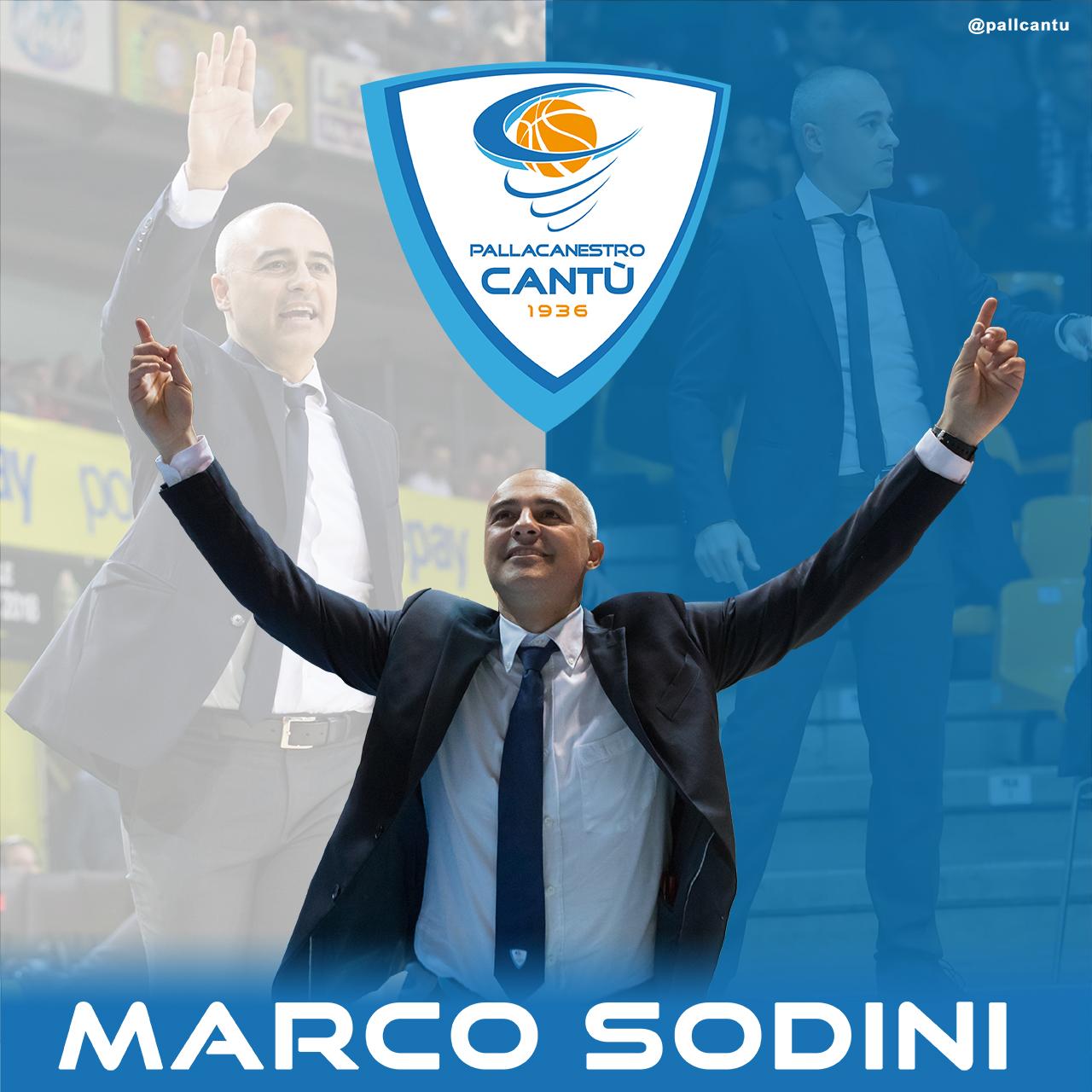 Cantù: Marco Sodini è ufficialmente il nuovo head coach biancoblu