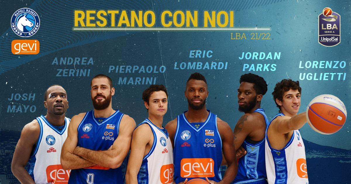 La GeVi Napoli Basket conferma 6 protagonisti della cavalcata vincente in Serie A