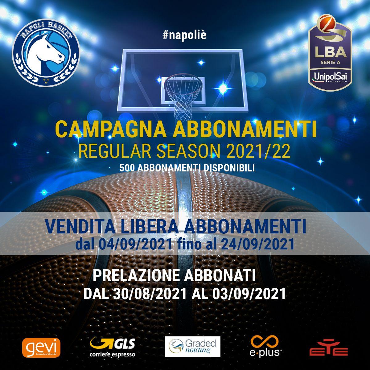 #LBA – GeVi Napoli, campagna abbonamenti al via Lunedì prossimo