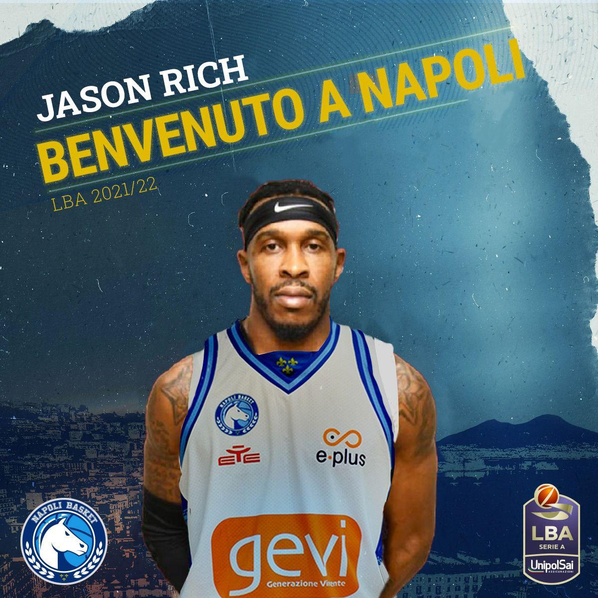 #LBA – GeVi Napoli, ufficiale l'arrivo di Jason Rich
